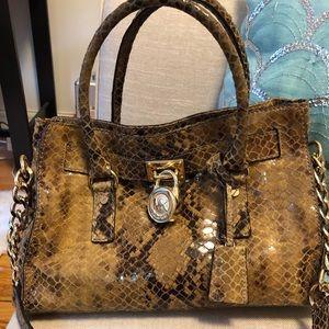 Gorgeous Michael Kors Hamilton python embossed
